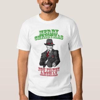 Merry Christmas you filthy animal Tees