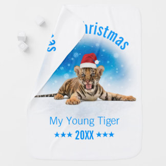 Merry Christmas | Young Tiger Gift Baby Blanket