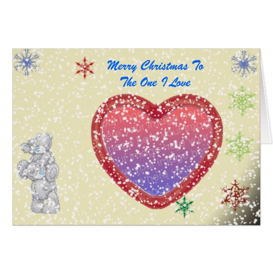 Merry ChristmasMe To You - Optional Snow Card