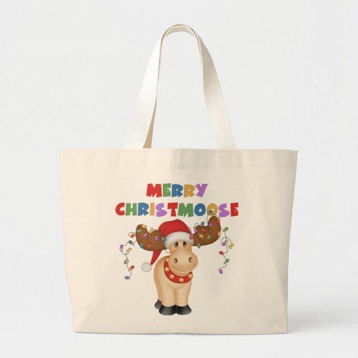Merry Christmoose Christmas Tote Bag