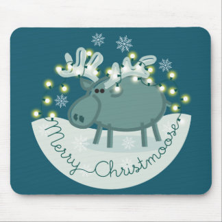 Merry Christmoose Mouse Mat