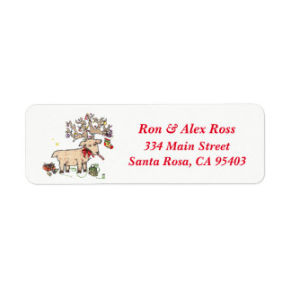 Merry Christmoose Return Address Labels