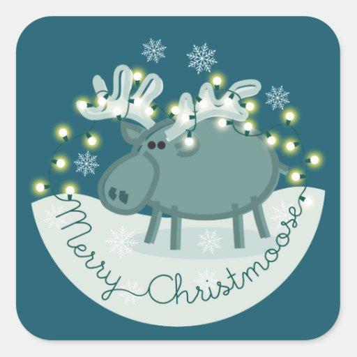 Merry Christmoose Sticker
