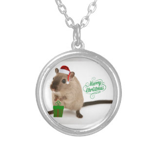 Merry Christmouse Silver Plated Necklace
