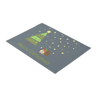 Merry Christms Hedgehog Doormat