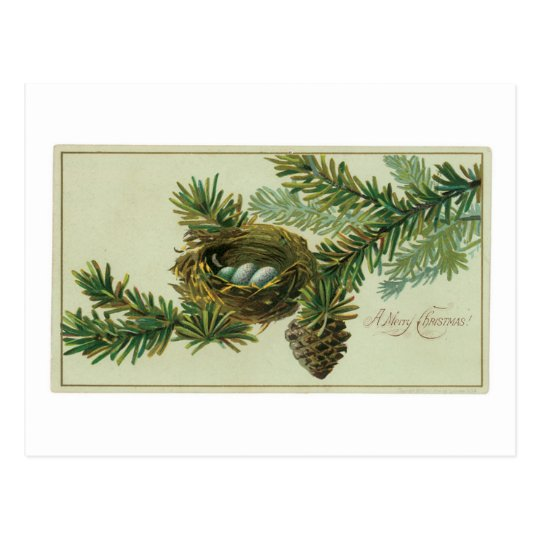 Merry Chrsitmas  Vintage Greeting Card