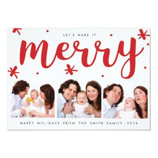 "Merry Confetti Christmas Card 5"" X 7"" Invitation Card"