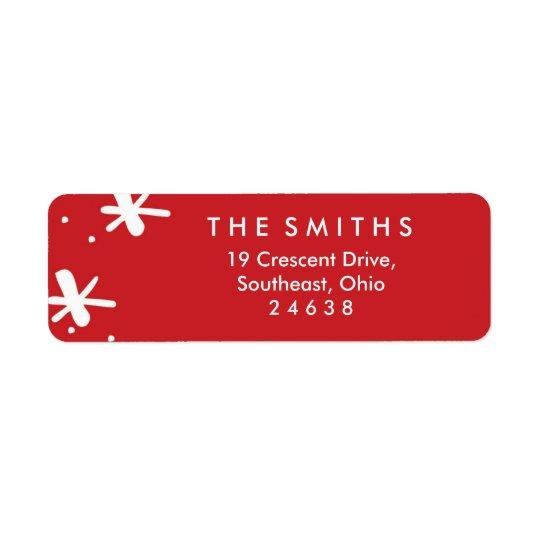 Merry Confetti Christmas Label Return Address Label