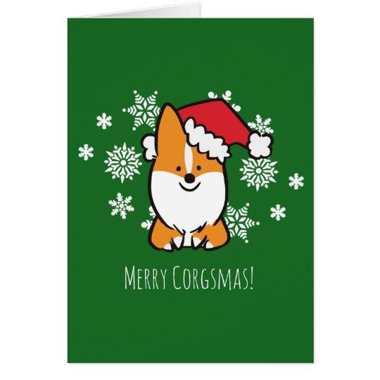 Merry Corgsmas Greeting Card | CorgiThings