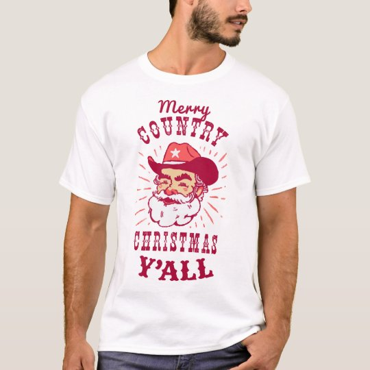 Merry Country Christmas Y'all | Holiday T-shirt