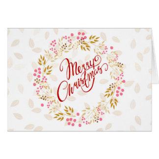Merry Cristmas Wreath Card