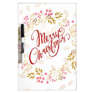 Merry Cristmas Wreath Dry Erase Board
