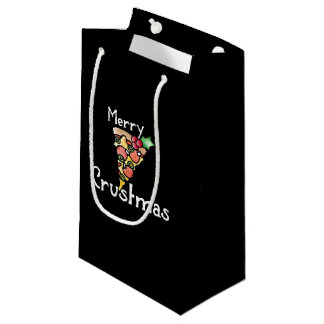 Merry Crustmas Pizza Christmas Small Gift Bag