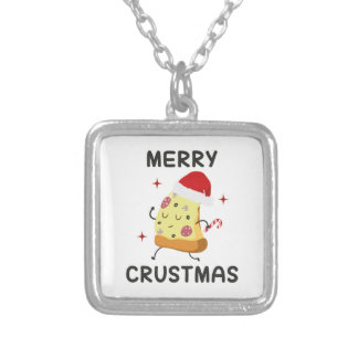 Merry Crustmas Silver Plated Necklace