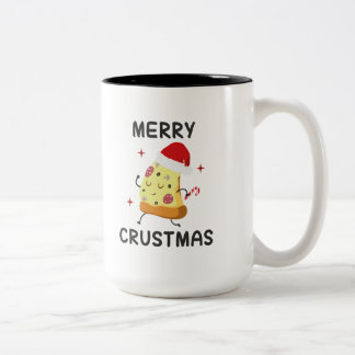 Merry Crustmas Two-Tone Coffee Mug