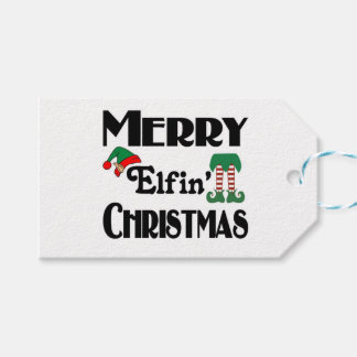 Merry Elfin' Christmas Gift Tags
