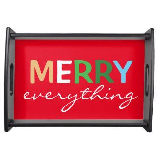 """Merry Everything"" Christmas Serving Tray"