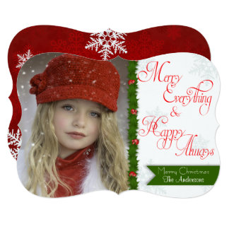 Merry Everything Custom Christmas Photo Card
