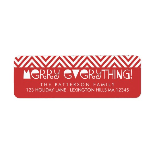 Merry Everything Fun Christmas Address Label