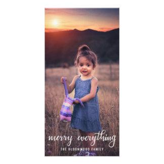 Merry Everything Handwritten Script Holiday Photo Card