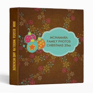 Merry Everything Ornaments Holiday Custom Binder