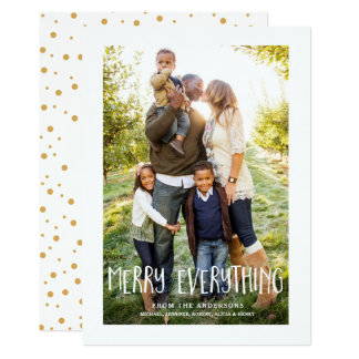 Merry Everything Photo Holiday Christmas Card