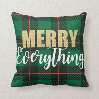 Merry Everything Plaid Pillow
