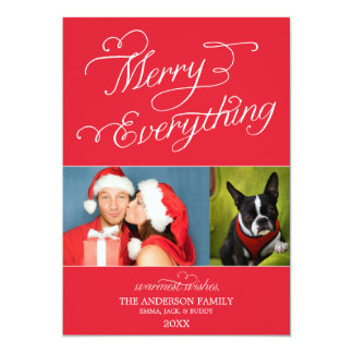 MERRY EVERYTHING SCRIPT | HOLIDAY PHOTO CARD