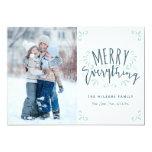 "Merry Everything Trendy Photo Greeting 5"" X 7"" Invitation Card"