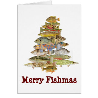 Merry Fishmas Greeting Cards