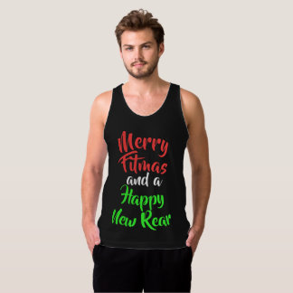 Merry Fitmas and a Happy New Rear Tank Top