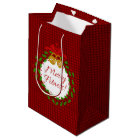 Merry Fitness Wreath Red Gift Bag