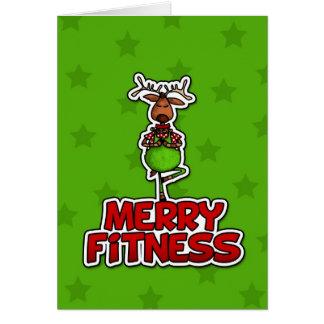 Merry Fitness - Yoga - Reindeer in Tree Posture Card
