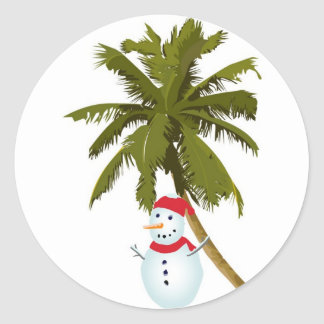 Merry Florida Christmas Classic Round Sticker