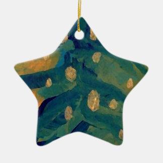 Merry Folk Art Christmas Tree Holiday Decor Ornament