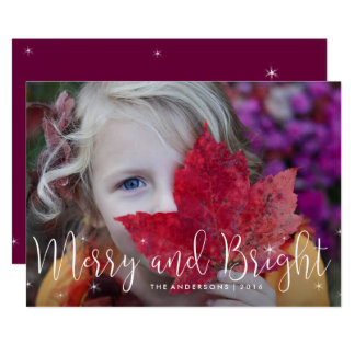 Merry Glow Holiday Photo Card