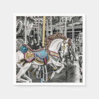 Merry Go Round Carousel Napkin
