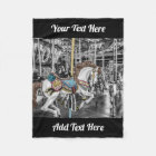 Merry Go Round Carousel Photography Fleece Blanket