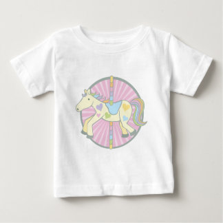 Merry-Go-Round Carousel Pony in Pink Baby T-Shirt