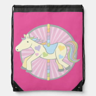 Merry-Go-Round Carousel Pony in Pink Backpacks