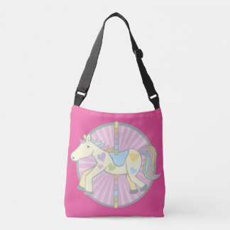 Merry-Go-Round Carousel Pony in Pink Crossbody Bag
