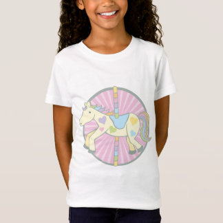 Merry-Go-Round Carousel Pony in Pink T-Shirt