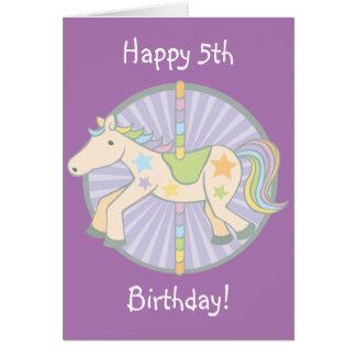 Merry-Go-Round Carousel Pony in Purple Card