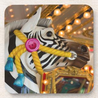 Merry-Go-Round Carousel Ride Zebra Horse Coaster