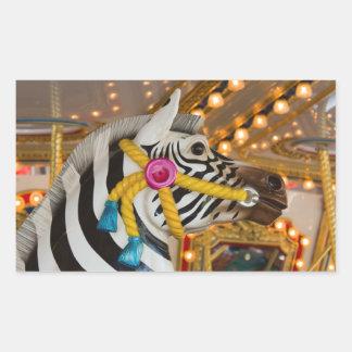Merry-Go-Round Carousel Ride Zebra Horse Sticker