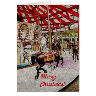 Merry-go-round Christmas card