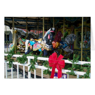 MERRY GO ROUND FOR A MERRY CHRISTMAS TEACHER GREETING CARD