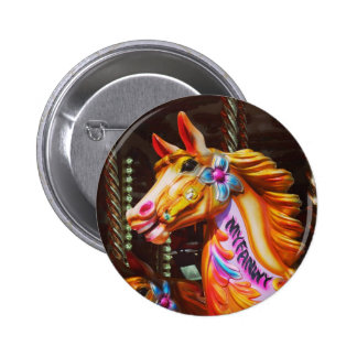 Merry-go-round Horse 2 Inch Round Button