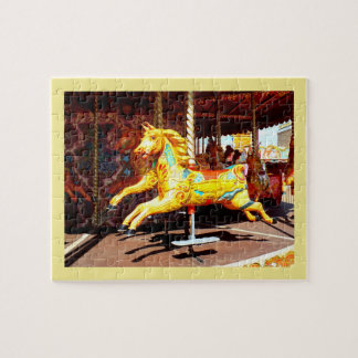Merry-go-round horse jigsaw puzzle