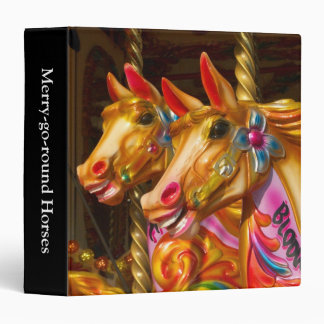 Merry-go-round Horses (1.5in) 3 Ring Binder
